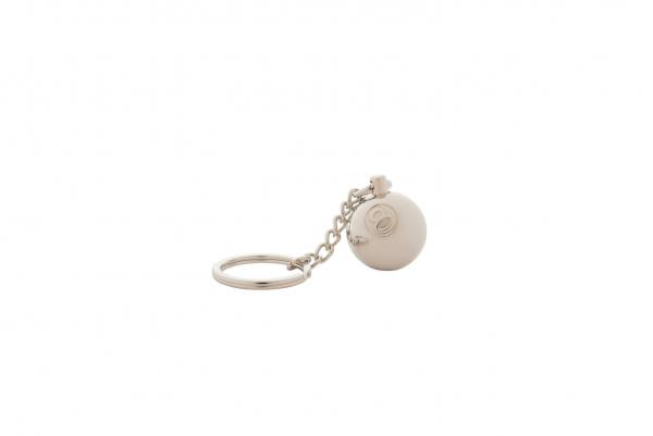Stussy Metal 8 Ball Keychain silber