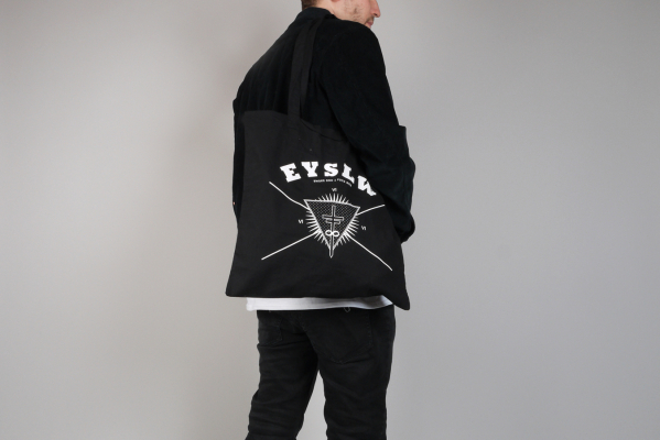 Eyeslow Records Crew Logo Jutebeutel black