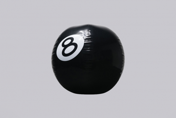 Stussy 8-Ball Beach Ball black