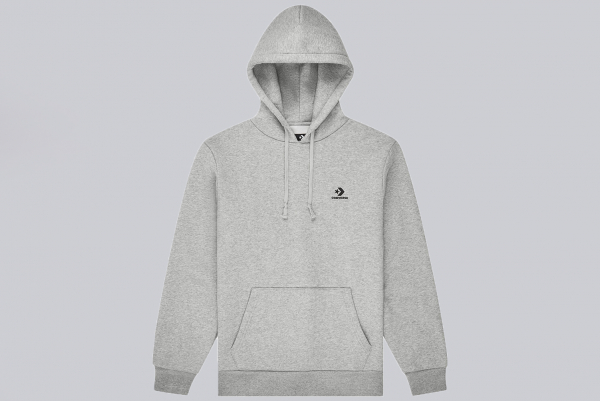 Converse Embroidered Star Chevron Pullover Hoodie black