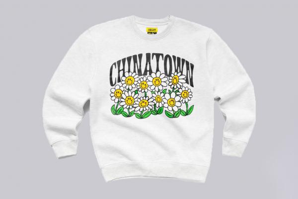 Chinatown Market Flower Power Crewneck Sweater grau