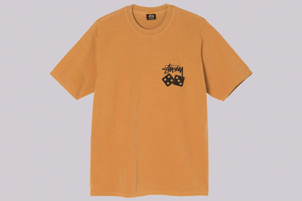 Stüssy Dice Pigment Dyed Tee copper