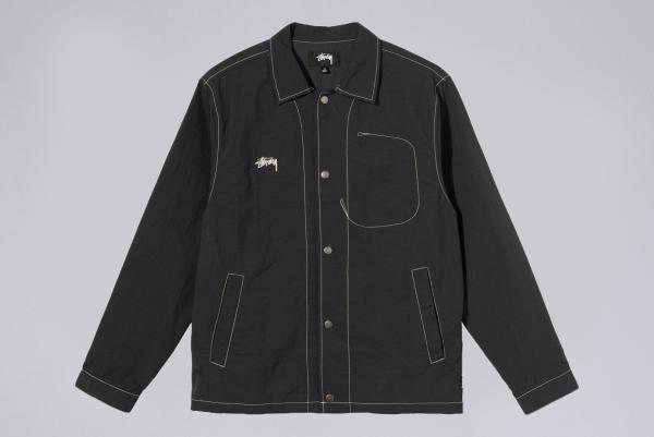 Stussy Folsom Coach Jacket black