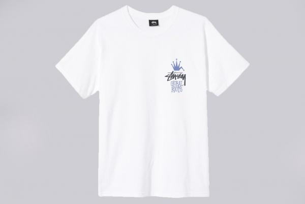 Stussy Global Roots T-Shirt weiß