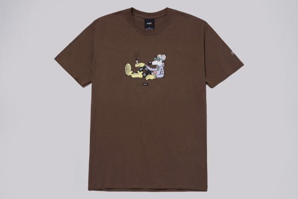 Huf x Steven Harrington Mouse T-Shirt braun