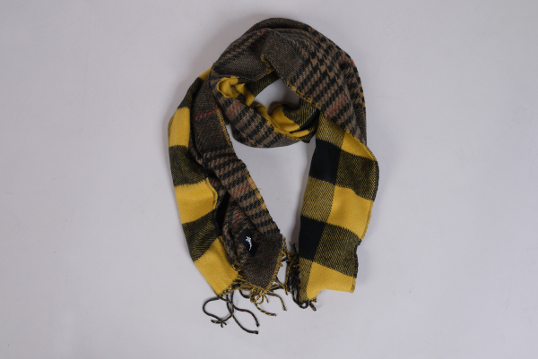 Stussy Double Faced Wool Scarf kariert