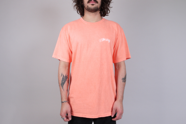 Stussy Bloom Pig. Dyed Tee neon orange