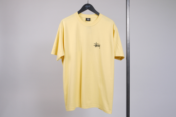 Stussy Basic Tee yellow/black