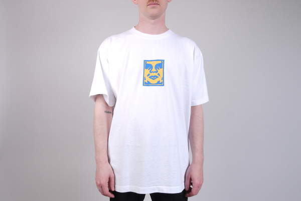 Obey Scetchy Face Heavyweight Box T-Shirt weiß