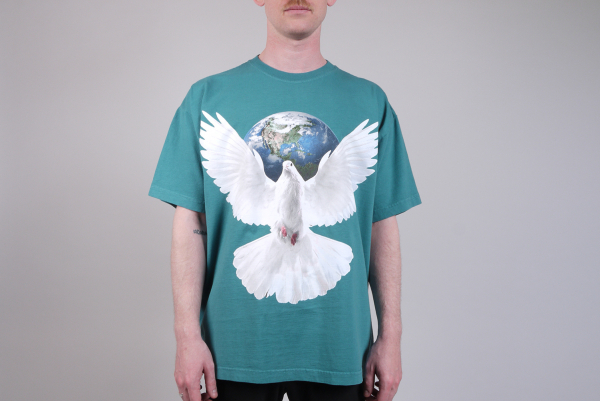 Worldwide Peace Heavyweight Classic Box Tee eucalyptus