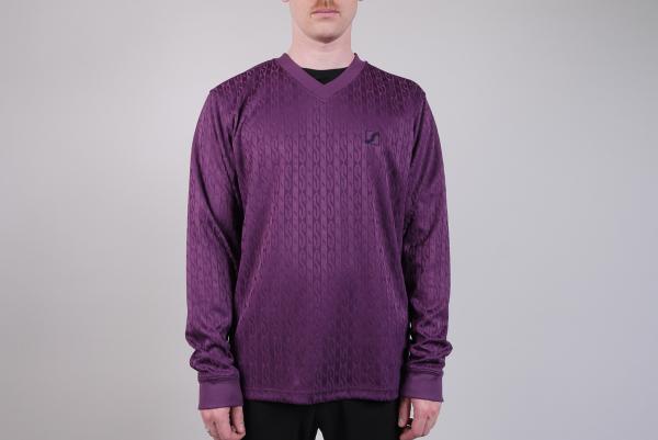 Stussy Soccer LS V-Neck purple