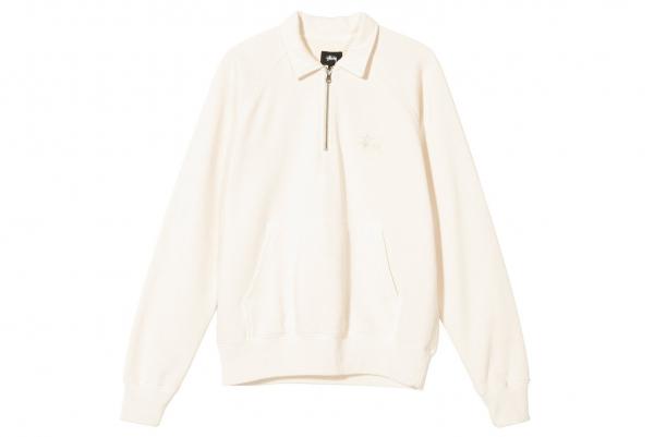 Stussy Polo Zip Fleece beige