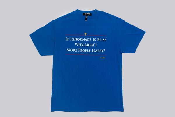 Skim Milk If Ignorance is Bliss T-Shirt blau