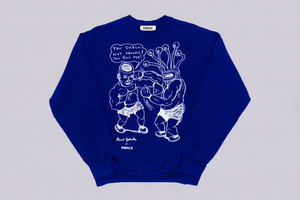 Whole x Daniel Johnston You shall not prevail Crewneck Sweater