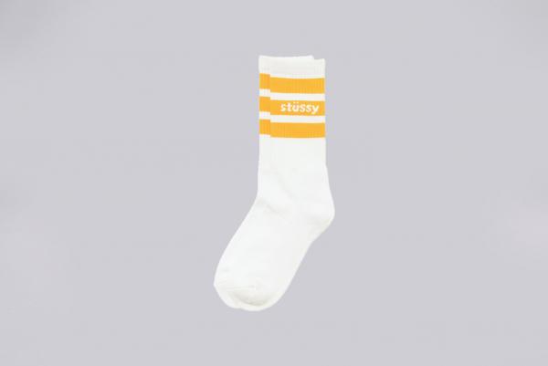 Stussy Sport Crew Socken weiß orange