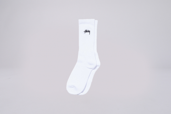 Stussy Small Stock Crew Socks weiß