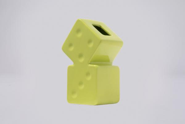 Stussy Dice Ceramic Vase grün