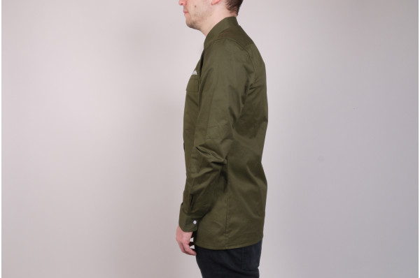 Green Hidden Flap Shirt