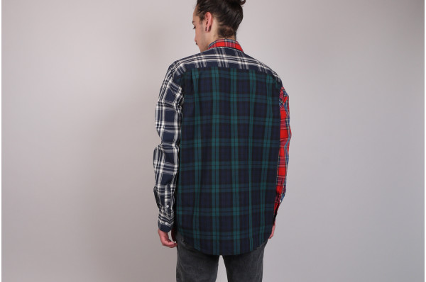Mixed Plaid LS Shirt