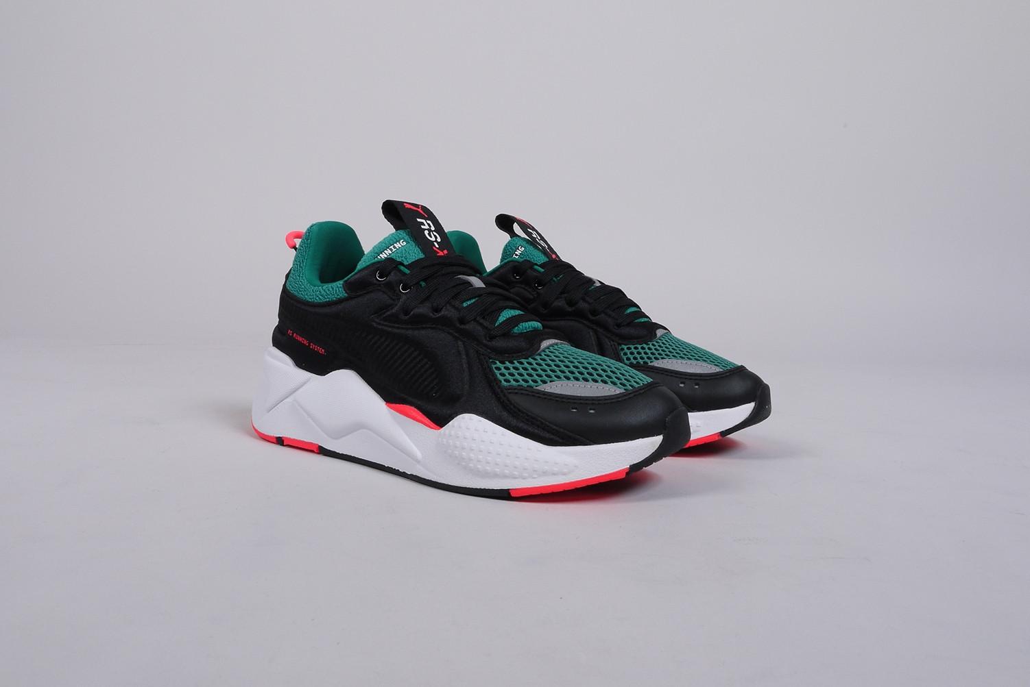 Damen puma Schwarz grün Rs x Soft C Ase Sneaker