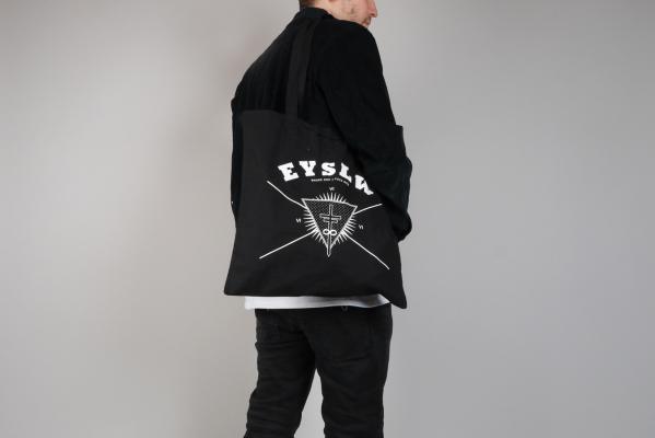 Eyeslow Records Crew Logo Jutebeutel black