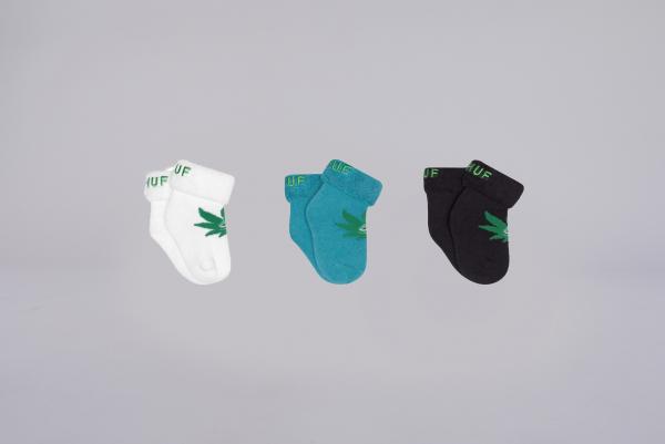 Huf Green Buddy Socks ultra cyan