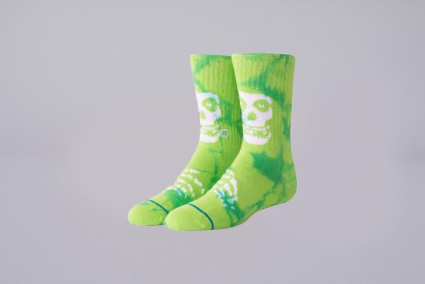 Stance Misfits Kids Socks green batik