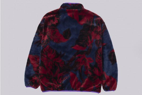 Sativa Floral Full Zip Sherpa Fleece Jacket